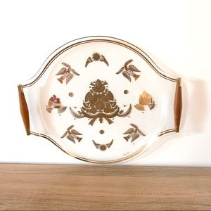 Vintage MCM Georges Briard Gold Dove Serving Tray